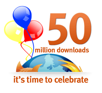 50 million downloads. It's Time To Celebrate